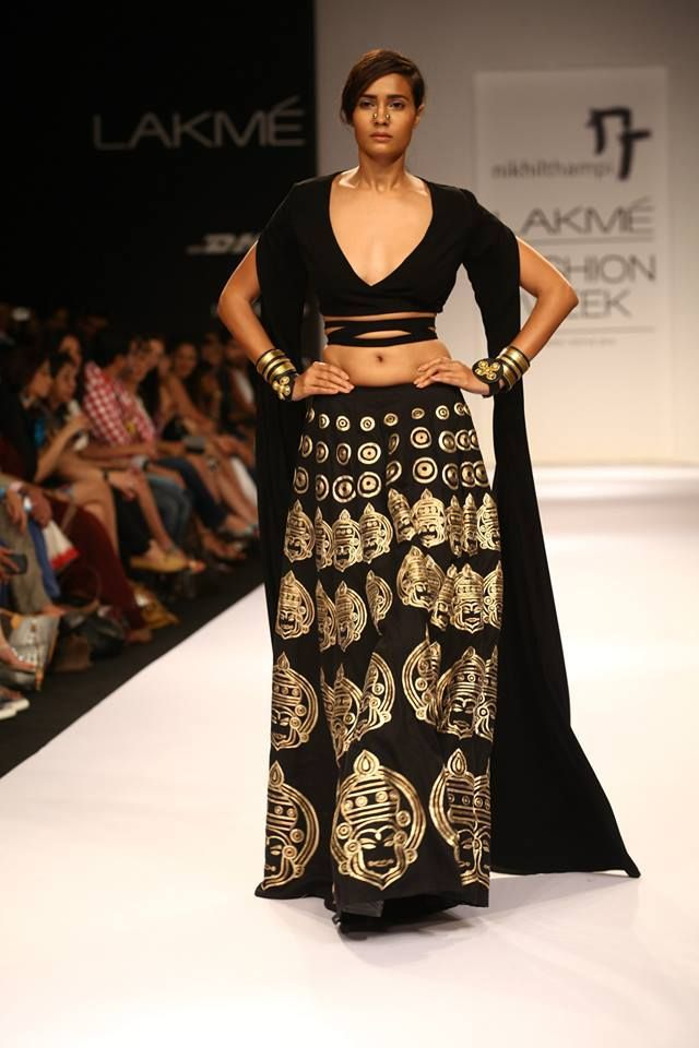 Nikhil Thampi Black designer wedding wear