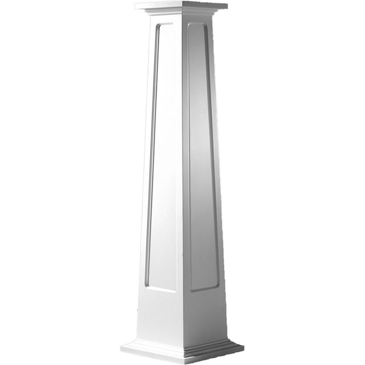 Endura craft square tapered recessed panel column for Tapered columns