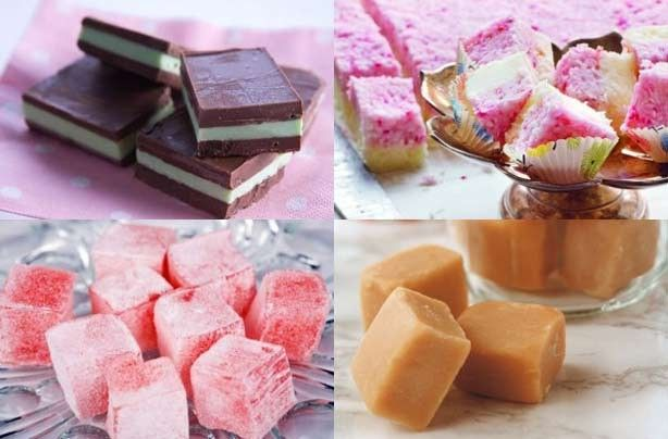 Home-made Sweets I want to make - Coconut Ice, Turkish Delight & Fudge!
