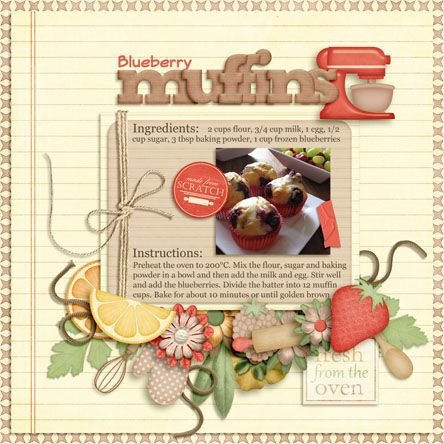 recipe scrapbook idea layouts | and motivation to keep creating beautiful scrapbooking layouts ...