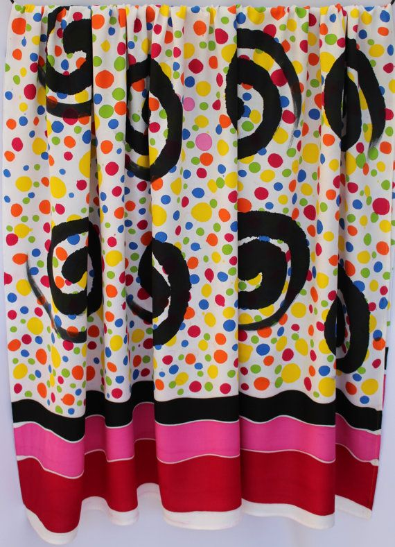 Batik beach sarong, cotton pareo, Thai fabric, wrap, home decor, home decor, artisan, designer, handpainted, handmade, RED FUSCHIA BLACK yellow multicoloured spots  Stunning (wax resist) hand-drawn batik beach sarong pareo / fabric length from Chumphon, southern Thailand  ✻ Individual – the allure of handmade and exclusive!! Stunning wearable art… ✻ Versatile, add this piece to your wardrobe as an eye-catching sarong / pareo / beach-wrap, casual neck tied dress, skirt and so o...