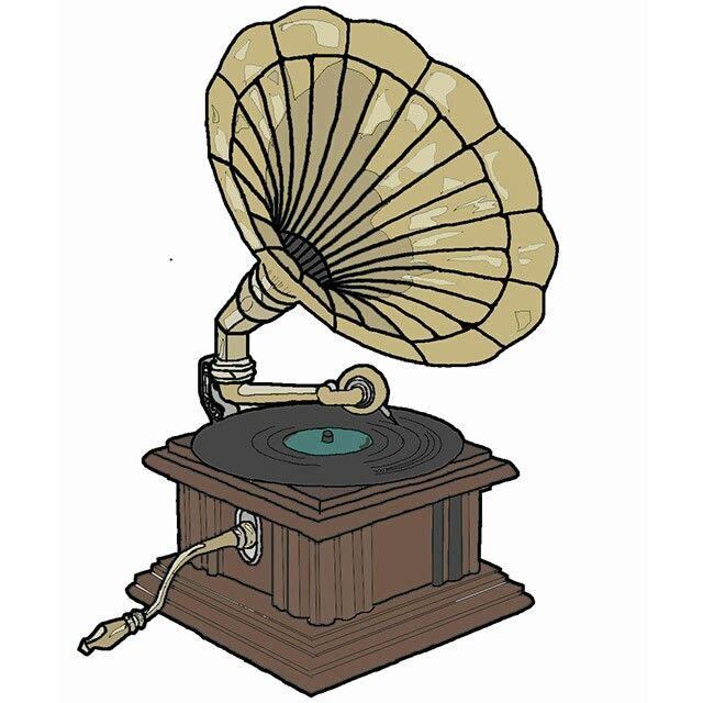 #gramophone illustration by Robynne Calvert #brighton My illustration nearly finished :)