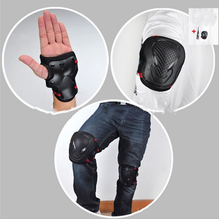 6pcs/Set Sports Safety Set Knee Pads Elbow Pads Wrist Protector Kneecap Kneepads for Scooter Cycling Roller Skating Skiing #Affiliate