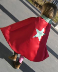 offering free craft and sewing patterns every other Monday (maybe every week, but I'm not promising). This week I'm posting a pattern for my Superhero Cape. This can be made with the fabrics of your choice and used for