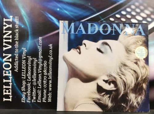 Madonna True Blue LP Album Vinyl Record 925442 WX54 Pop 80's 'Papa Don't Preach' Music:Records:Albums/ LPs:Pop:1980s