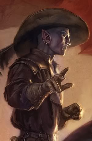 Jarlaxle, from R.A. Salvatore's Legend of Drizzt and The Sellswords series.  ~  Next to Zaknafein, this dude is the best side character in the series. <3