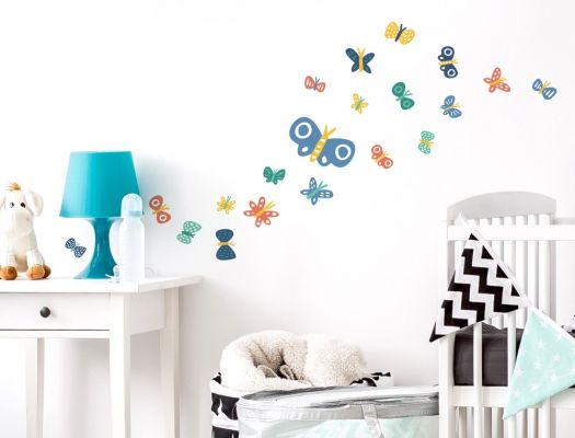 Cool Wandsticker Schmetterlinge f r Jungen Kinderzimmer