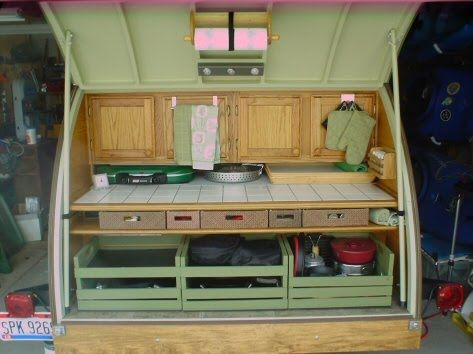 Teardrop Campers Projects | Aunt Barb's teardrop trailer project.
