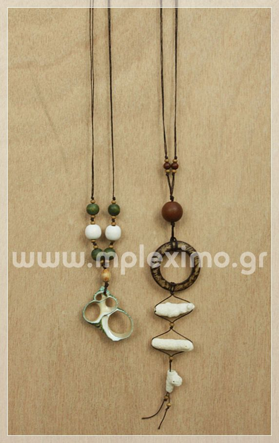 shells and coconuts long necklaces