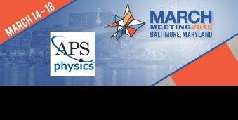 볼티모어 미국 물리학 회의 APS 2016 American Physical Society  March Meeting