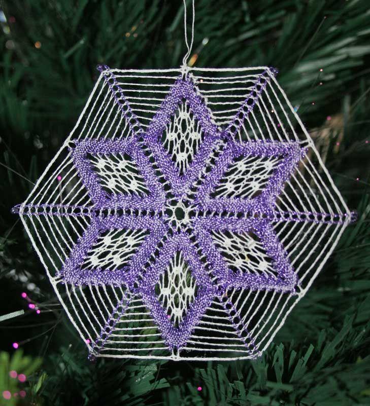 Bobbin lace snowflake
