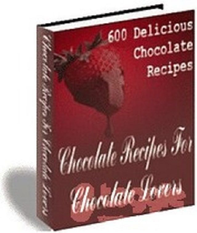 600 Delicious Chocolate Recipes    book---CD
