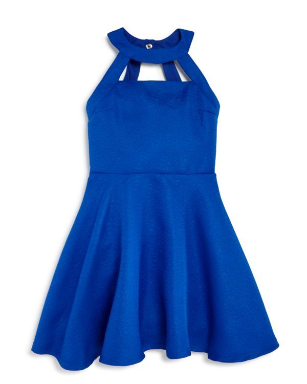Miss Behave Girls' Cutout Jacquard Skater Dress - Sizes S-xl