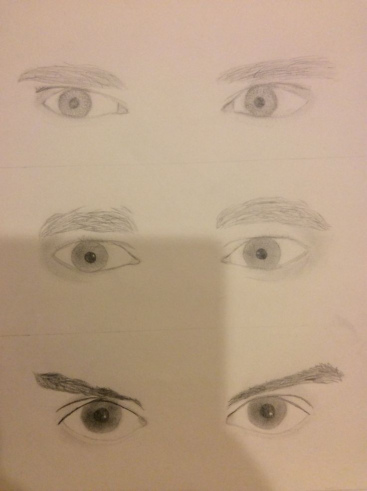 Working on eyes (Sherlock, Watson, and Moriarty from Sherlock BBC)