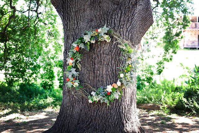 Naomi Rose Floral Design { Rustic Wedding } Ceremony | Wreath | Succulents | Billy buttons | Bright colours | Orange | Yellow | Pink | captured by Kristin (Kitty) Wursthorn