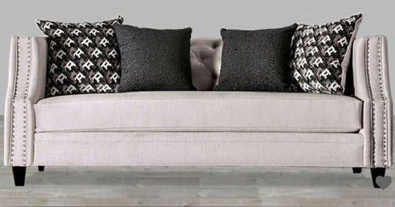 Fabric Sofa With Nailhead Trim