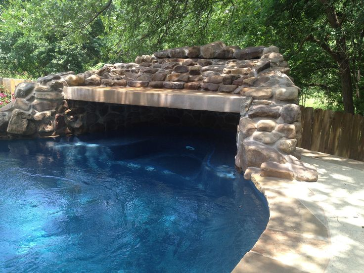 how to build a pool grotto