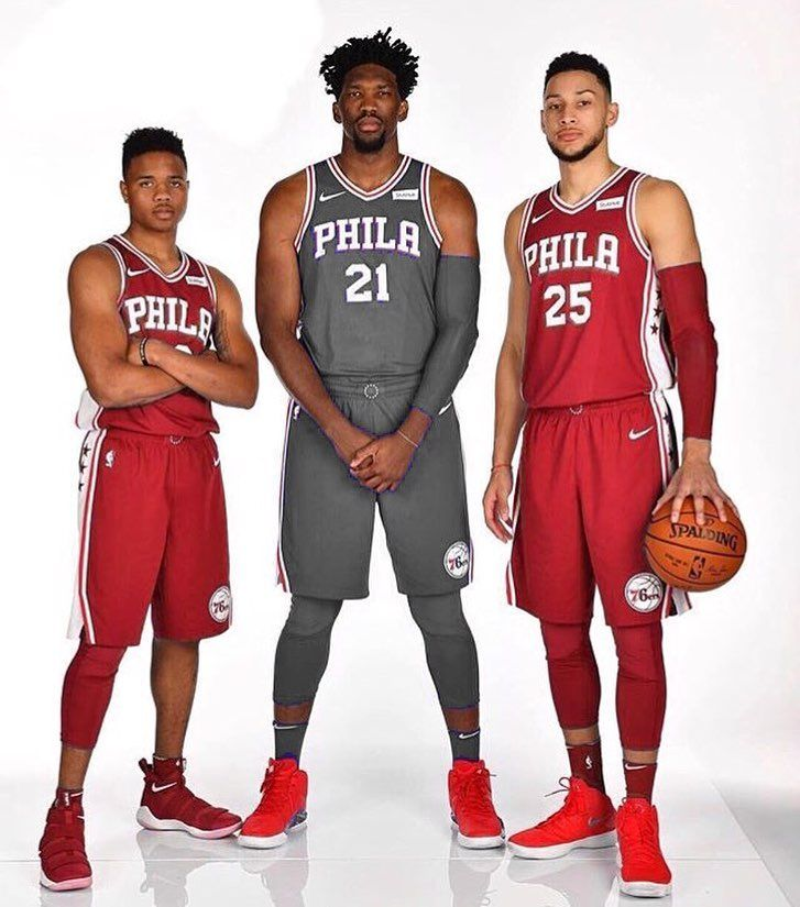 Jersey Colour Change Made By Me Thoughts Do Y All Think That The Sixers Should Wear Either Th Basketball Highlights Basketball Playoffs Sports Basketball