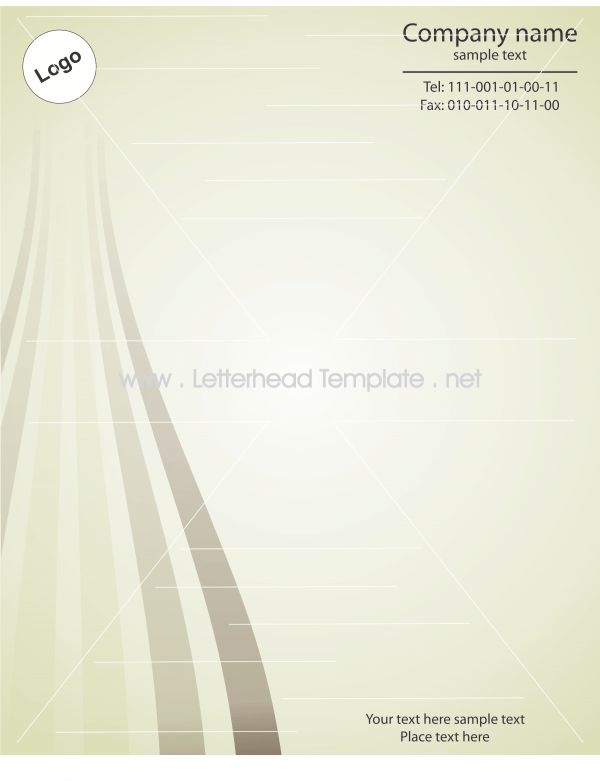 Stripped letterhead template Preview