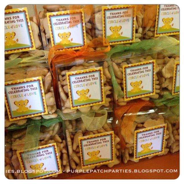 How many Animal Crackers in the Bottle?Disney's Lion King Baby Shower Party  - animal cracker party favors