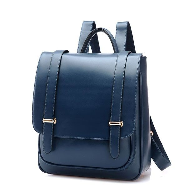 Double Buckle Leather Shoulder Bag Backpack|Fashion Backpacks - Fashion Bags - ByGoods.com
