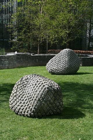 Peter Randall-Page - Granite Boulders 2007 - 'Pythagoras Stone' (left) & Triangulation I (right)