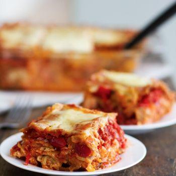 Whole Wheat Roasted Veggie Lasagna Recipe - ZipList