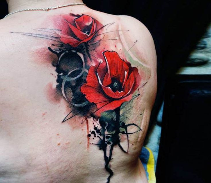 Tattoo Ideas Us Abstract Tattoo By Boris Backert: Poppy Flowers Tattoo By Uncl Paul Knows