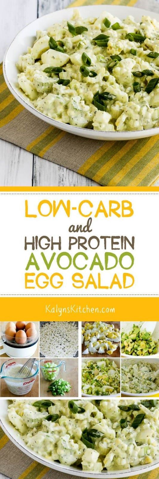 Low-Carb and High Protein Avocado Egg Salad with C…
