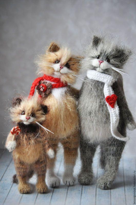Игрушки животные, ручной работы. МАМА + ПАПА + Я  Вязаные кошки. Ольга Бессогонова. Ярмарка Мастеров.