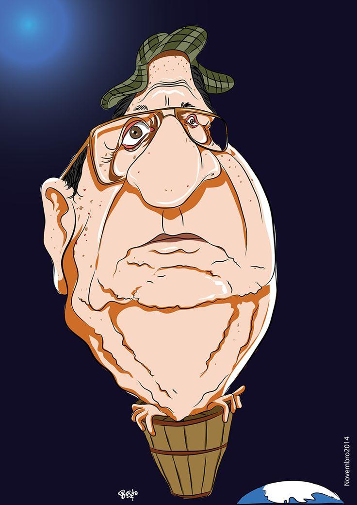 Caricatura Roberto Gomes Bolaños (Chaves)