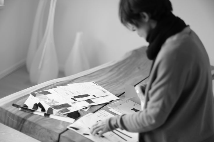 Marta Cucciniello during the creative process: http://blog.martacucciniello.com/post/82692038746/the-creative-process