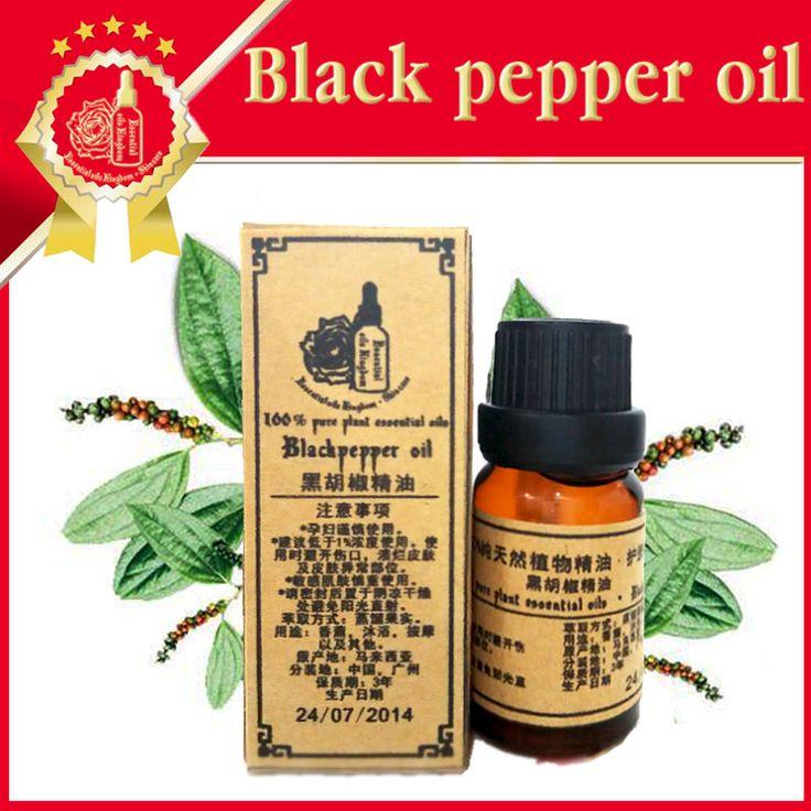 Эфирные масла, чистый натуральный ароматерапия масло Черного перца Для облегчения боли в мышцах при ревматоидном артрите стимулировать ум