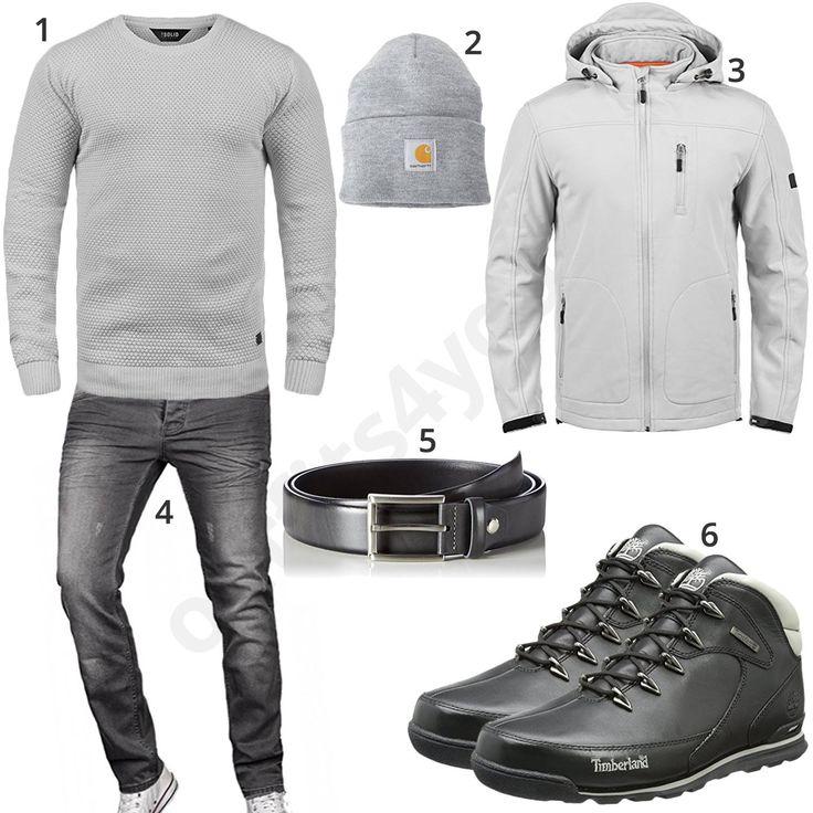 Graues Männeroutfit mit Strickpullover und Mütze (m0749) #pullover #indicode #jeans #outfit #style #herrenmode #männermode #fashion #menswear #herren #männer #mode #menstyle #mensfashion #menswear #inspiration #cloth #ootd #herrenoutfit #männeroutfit