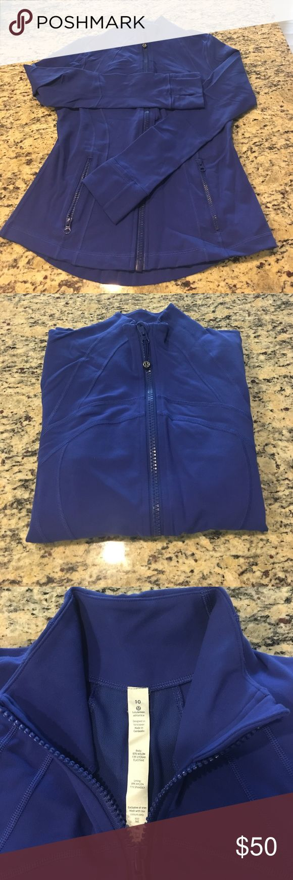 Lululemon Define Jacket Cobalt blue, lightweight work out jacket! Worn once and in pretty much brand-new condition. The closet cleanse continues! lululemon athletica Other