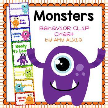Behavior Clip Chart - Behavior Management - MONSTERS