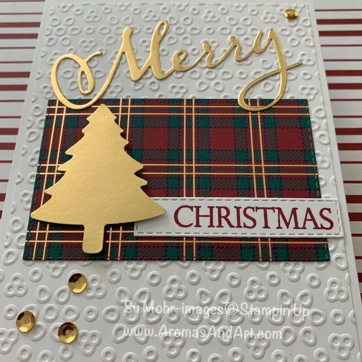 Goldfolie plus Plaid = frohe Weihnacht-Karte – Aromen und Kunst   – CHRISTMAS CARDS