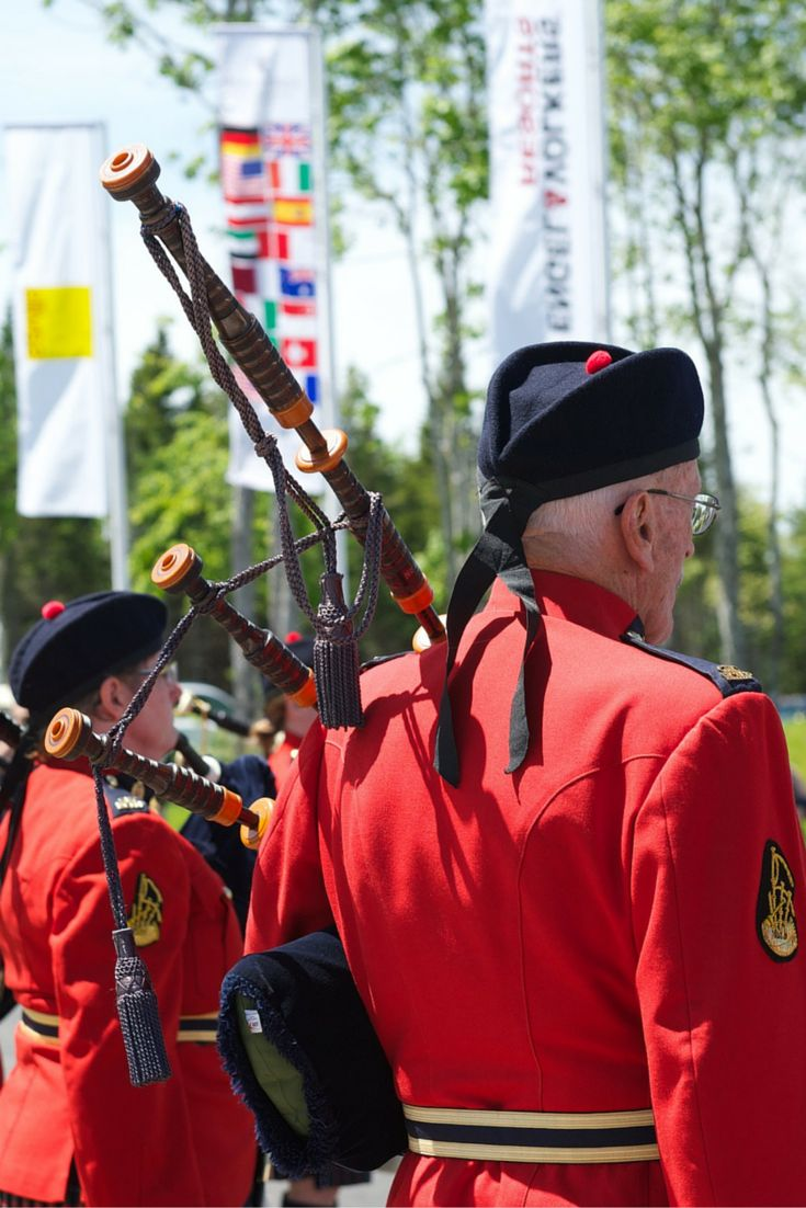 June 20, 2015. Summer Celebration Event: RCMP Pipe and Drum performance before guests set out on an afternoon of exploring around Forest Lakes Country Club.