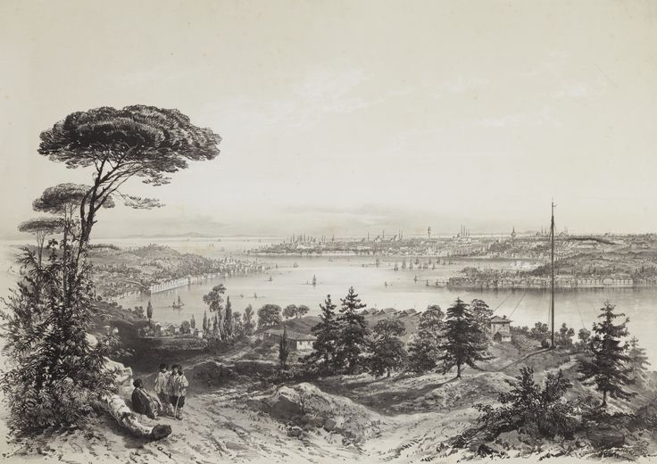 Schranz, Joseph   PANORAMA DU BOSPHORE DE LA MER NOIRE JUSQU'À LA MER DE MARMARA. CONSTANTINOPLE: MISSIRIÉ & SCHRANZ, [C.1855] istanbul
