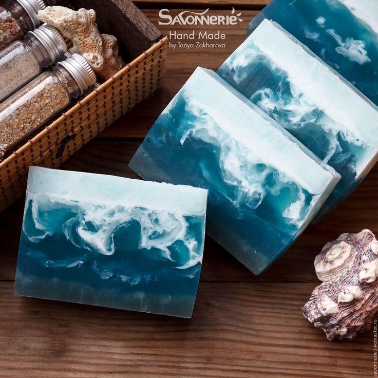 """Мыло ручной работы """"Сердце Океана"""" - морская волна, морское мыла, #море #Soap #handicraft #sea #savonnerie"""