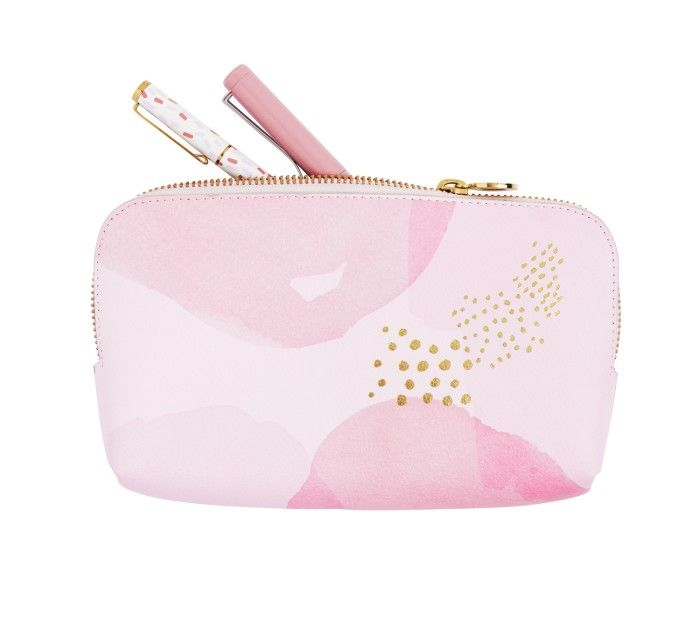 LEATHER PENCIL CASE: PINK LAVENDER