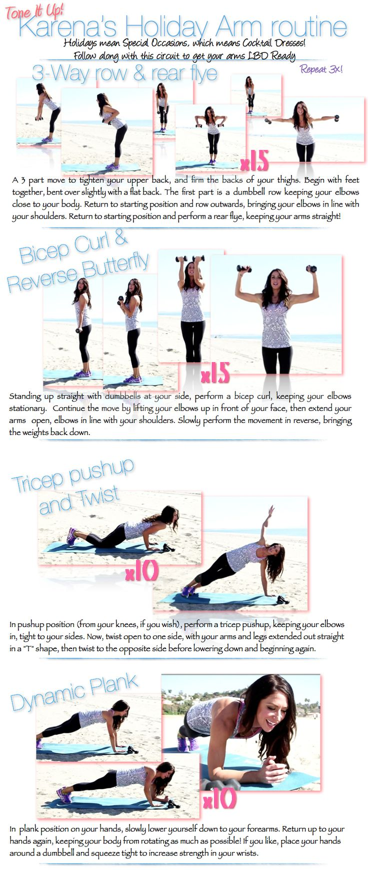 Happy Tone It Up Tuesday ladies! Here is your Holiday Arm routine, to get LBD ready for all those fun cocktail parties :) check out more at ToneItUp.com <3