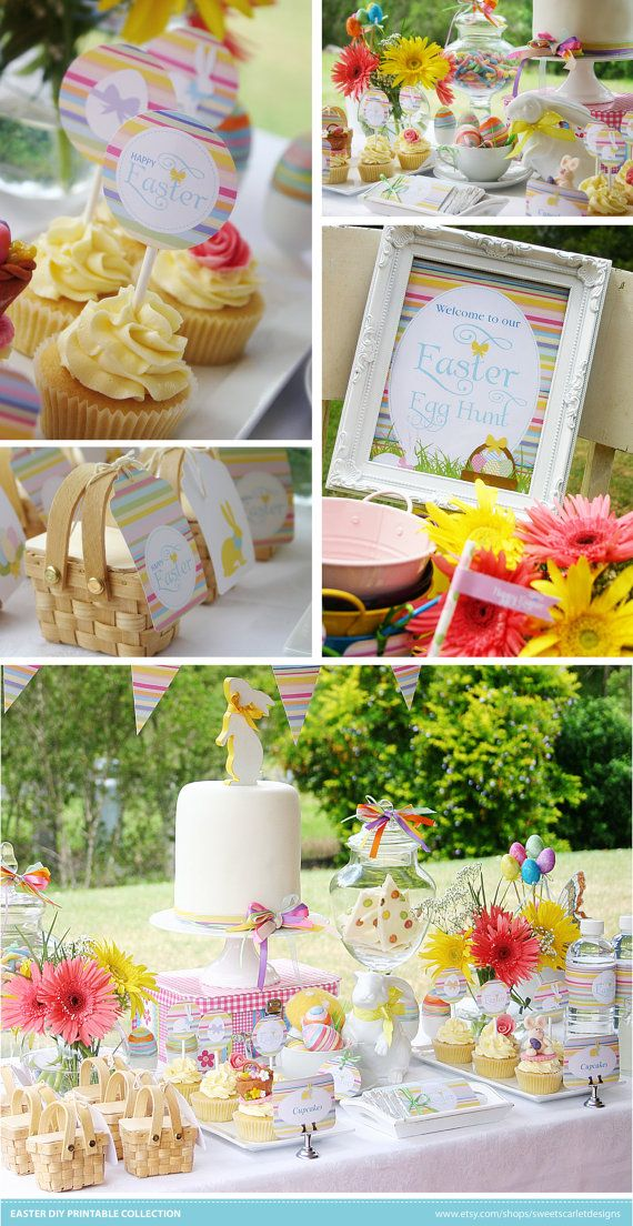EASTER Printable Set Includes Cupcake by SweetScarletDesigns