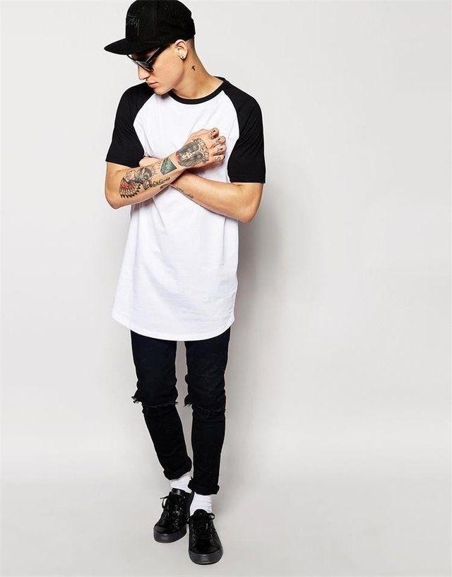22 best Camisas E camisetas long line oversized lisas images on ...