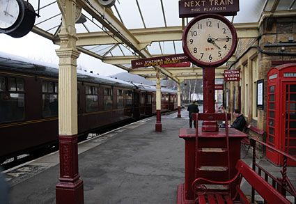 Keighley and Worth valley railway, Oakworth, Haworth and Oxenhope, West Yorkshire, England