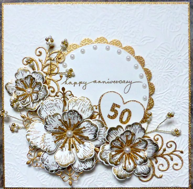 Flowers For Golden Wedding Anniversary: 58 Best Images About 60th Wedding Anniversary Cards On