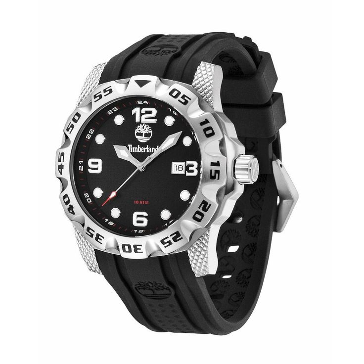Run your Elegance 365 days a year! Elegance is a mindset BELKNAP - Timberland watch black and silver dial and large black silicone strap - Runit365 your Elegant Men Store  #menstyle #classy #silk #shoes #leather