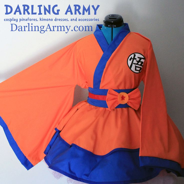 Goku - Dragonball Z - Cosplay Kimono Dress by DarlingArmy.deviantart.com on @deviantART