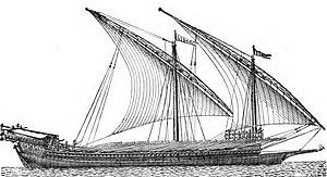 Assetto di navigazione a vela.