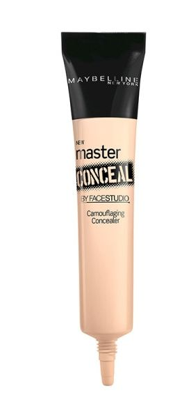 Try a full-coverage concealer for dark circles, adding a few drops on the back of your hand. Use your finger to gently tap concealer under the eyes until it's blended.